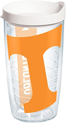 Tervis 1093773 Tennessee Volunteers Colossal Tumbler with Wrap and White Lid 16oz, Clear