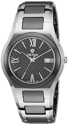 CROTON Men's CN307530TNBK Analog Display Quartz Silver Watch