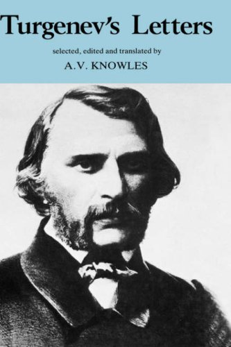 Download Turgenev's Letters (European Thought) pdf