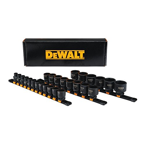 DEWALT Impact Socket Set, 26-Piece, 1/2