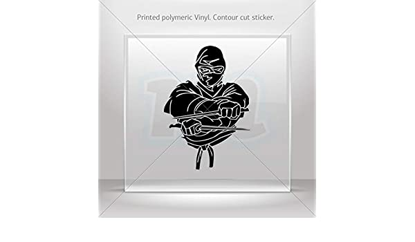 Amazon.com: Decal Ninja Warrior Fighting Motorbike Vehicle ...