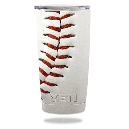 MightySkins Skin Compatible with Yeti 20 oz Tumbler – Baseball | Protective, Durable, and Unique Vinyl Decal wrap Cover | Easy to Apply, Remove, and Change Styles | Made in The USA