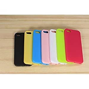 get Solid Color Anti-glare Full Body TPU Case for iPhone5/5S , Yellow