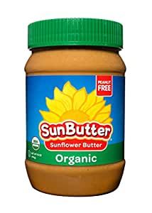 SunButter Sunflower Butter Allergen Free All Natural Alternative to Peanut Butter (Organic, 16 Ounce Jars Pack of 6)