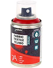 PEBEO Fabric Paint Spray for Textiles 7A Spray - Natural and synthetic fabrics - Water-based - Solvent-free - Permanent Fabric Dye Machine-Washable - Spray Paint for textile design - 100ml - Red