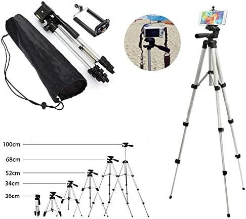 Majoxin Portable Flexible Telescopic Camera Tripod with Stand Holder Mount with Carry Bag for Mobile Phone Smart Phone Camcorder