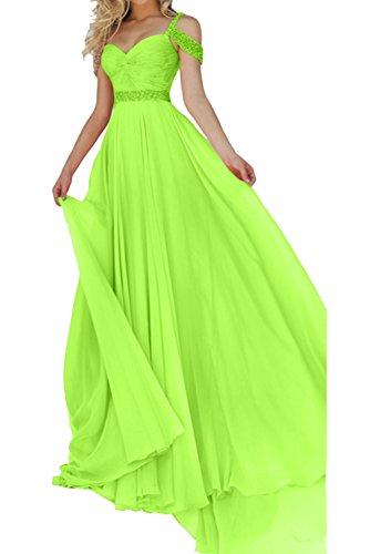 Promkleider Neu Paillette Lang Chiffon Grün Abendkleider Ballkleider Ivydressing Damen Traeger BI8F8