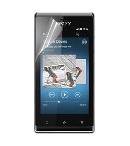 Colorfone 00151645 - Protector de pantalla antihuellas para Sony Xperia J