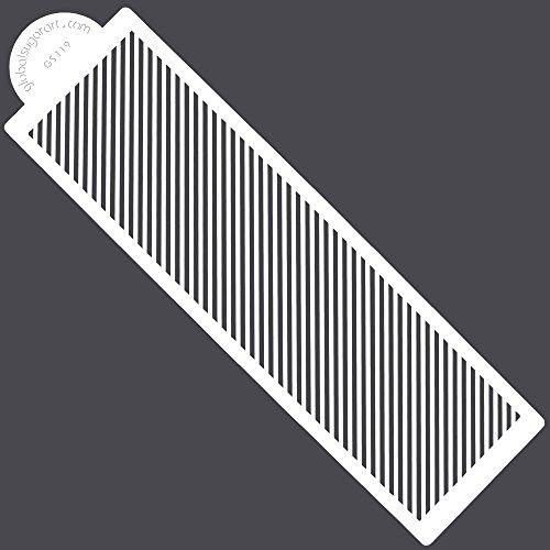 Global Stripe - Diagonal Stripe Stencil by Global Sugar Art