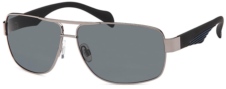 Herren Edelstahl-Sonnenbrille sportlich-elegant mit polarisierten Gläsern- Im Set mit Etui pDhoQ9e4