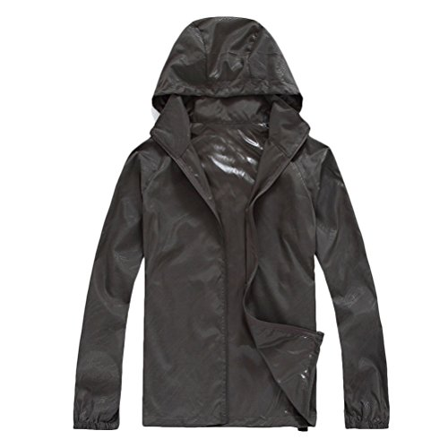 Zhuhaitf Multi-color Premium Womens Waterproof Warm Walking Hiking Jacket 3202 Grey
