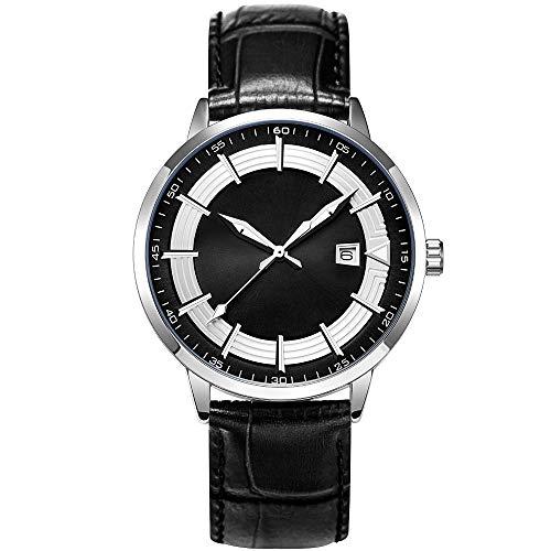 🥇 Clásico Adj Impermeable Reloj De Cuarzo Deportivo para Hombre con Diseño De Acero Inoxidable y Personalidad De con Pulsera De Malla
