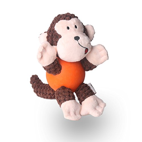 FORE Dog Squeak Plush Toy For Dog Toy Monkey Color Brown (Fore Plush)