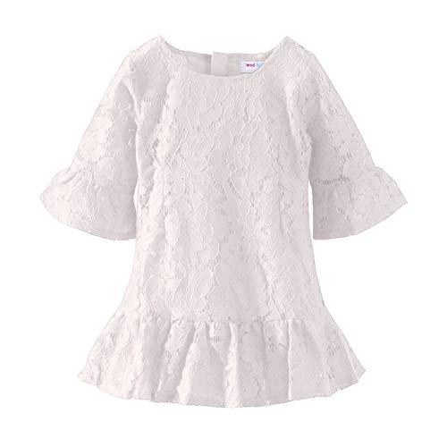 Mud Kingdom Little Girls White Dresses Lace Boutique Summer Size 5