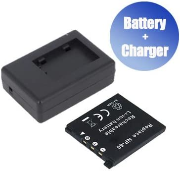 BattPit/™ New Digital Camera Battery Charger Replacement for Casio NP-60 800 mAh