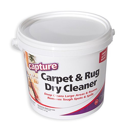 Capture Carpet Dry Cleaner Powder 8 Pound - Resolve Allergens Stain Smell Moisture from Rug Furniture Clothes and Fabric, Mold Pet Stains Odor Smoke and Allergies Too (Best Dry Carpet Cleaner Product)