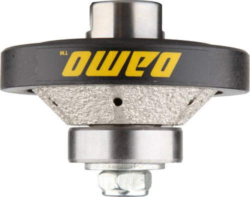 DAMO 3/8 inch Bevel Diamond Hand Profiler Router Bit Profile Wheel with 5/8-11 Thread for Granite Concrete Marble Countertop Edge