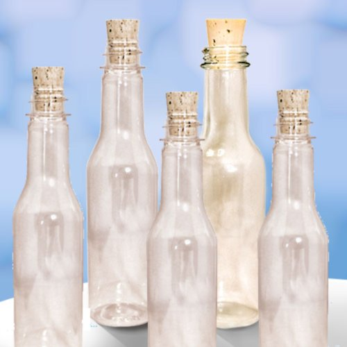 20 Plastic Bottles & Corks for Message in a Bottle Invitatio