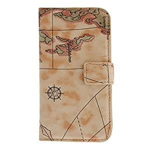 Map Pattern PU Leather Case for Samsung Galaxy S4 I9500