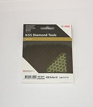 3 pack KGS Swiflex XX Diamond Polishing pads /Ø4 grit 1500