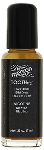Mehron Makeup Tooth FX with Brush, NICOTINE for Special Effects| Halloween| Movies- 1oz (Zombie Fx Makeup)