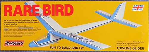 (Rare Bird : DPR Towline Free-Flight Sailplane Balsa Wood Model Plane Kit Wingspan)