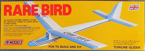 Rare Bird : DPR Towline Free-flight Sailplane Balsa Wood Model Plane Kit Wingspan 900mm