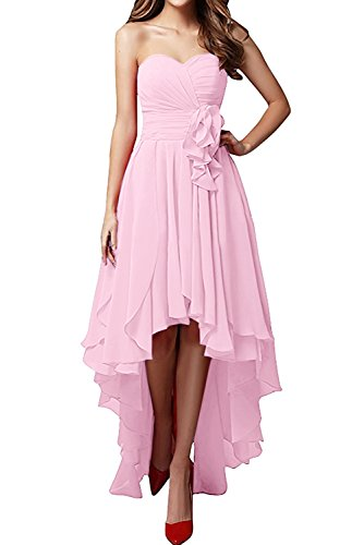 mujer Rosa Vestido para Topkleider 42 trapecio P0tzwqxzR