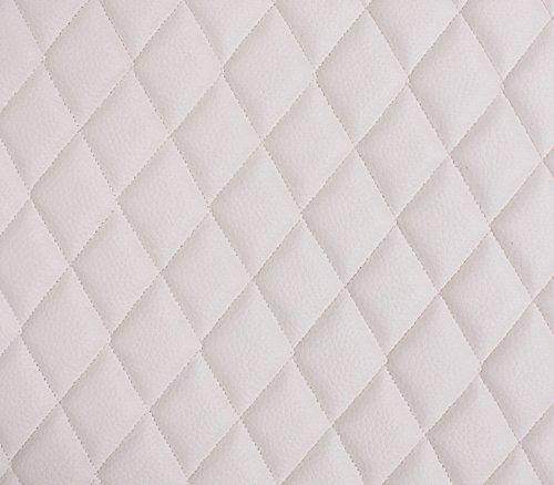 (Vinyl Grain Texture Quilted Foam White Fabric 2