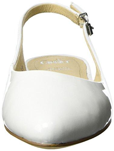 Caprice 29402, Sandalias con Cuña Para Mujer Blanco (White Patent)