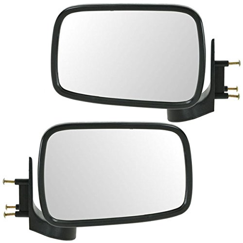 Koolzap For 86-93 Mazda Pickup Truck Chrome Manual Rear View Mirror Left Right Side SET PAIR