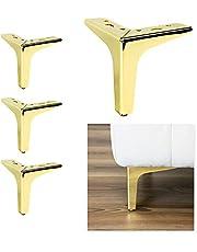 P17 Model Siena | set met 4 poten + 16 schroeven | hoogte 13 cm | poten voor banken, meubels, kasten, fauteuils | metalen poten voor modern en elegant design |