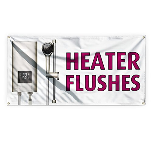 Heather Flushes #1 Outdoor Advertising Printing Vinyl Banner Sign With Grommets - 4ftx8ft, 8 Grommets Heather Flush