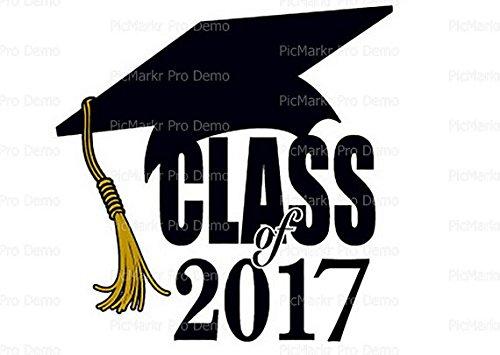 1/2 Sheet - Class of 2017 Graduation - Edible Cake/Cupcak...