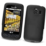 LG Optimus S LS670 (Sprint) Silicone Skin Case, Black