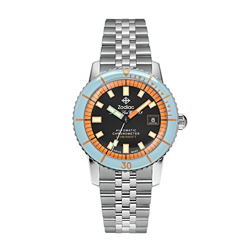 Zodiac Men's Super Seawolf Swiss Automatic Stainless Steel (Large Image)