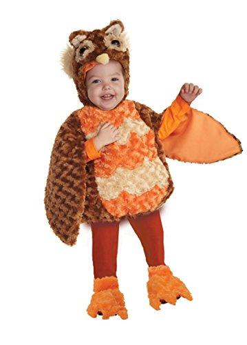 Underwraps Toddler's Owl Belly-Babies, Brown/Orange/Tan, (Baby Girl Owl Halloween Costume)