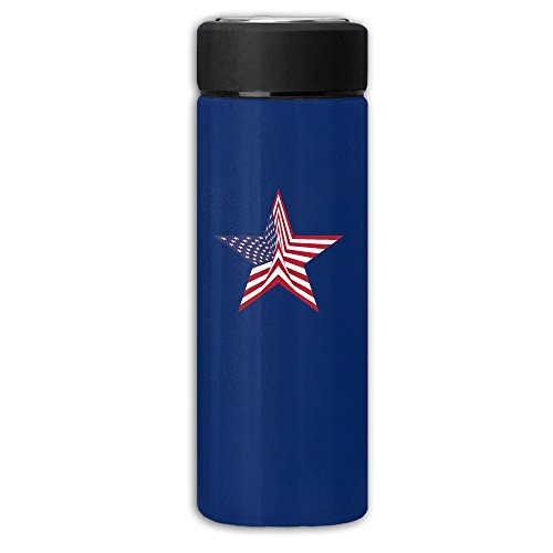 NICOLE SMITH Eagle USA Flag Watertight Stylish Design Insulated Frosted Vacuum Cup Thermoses Mug Water Bottle Coffee - Mall The Foothills