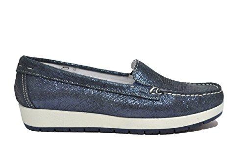 scarpe donna co Mocassini zeppa 77350 Igi navy w4ZOnqxnI