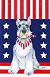 Schnauzer Grey Cropped – Tomoyo Pitcher Patriotic Large Flag For Sale