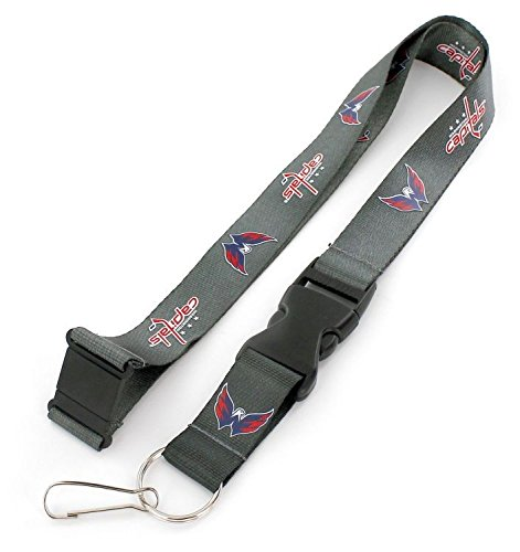 aminco NHL Washington Capitals Team Lanyard, Charcoal ()