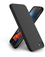 Syncwire iPhone 7/8 Case - Ultra-Thin Soft iPhone 7/8 Phone Case with Carbon Fiber Texture Design, Anti-fingerprint Drop-Protection Fully Protective Cover Case for Apple iPhone 7/8 - Matte Black