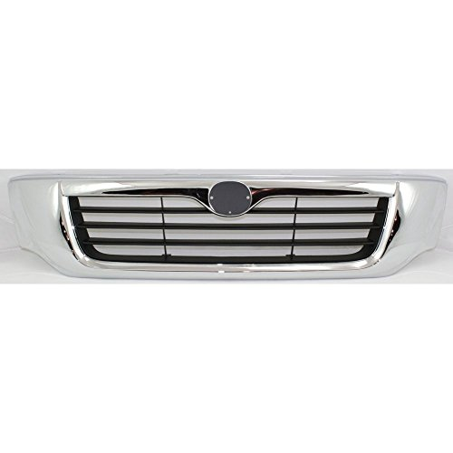 Grille for Mazda Pickup 98-00 Plastic Chrome Shell/Painted-Black Insert
