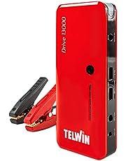 Telwin Drive 13000 3-i-1 12 V litium starthjälpmedel nödstarter, powerbank och LED-lampa