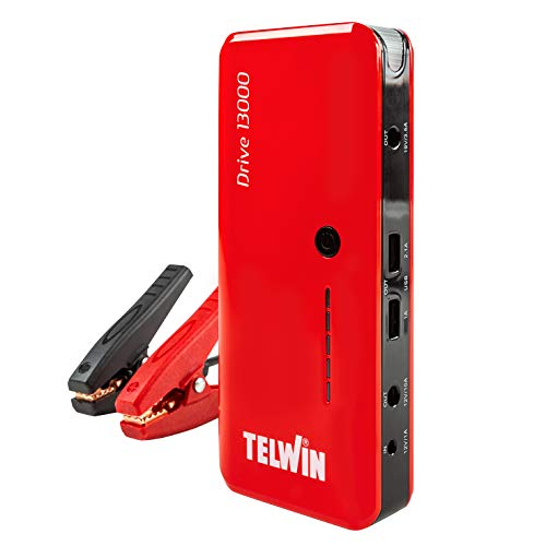Telwin Drive 13000 3-in-1 12 V lithium-starthulp, noodstarter, powerbank en ledlamp