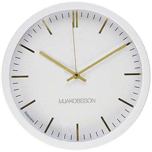 Scandinavian Design Silent Wall Clock, Non-Ticking Home Decor Interior By MJakobsson (Gold)
