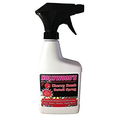 Hollywood's Cherry Bomb Detail Spray(16 oz) - Quick Easy, Enhanced high Gloss Formula, Cherry Scented, carnuba Blend Highlighter, Painted Surfaces, dust and Water Protection. Cars, Boats, RVs, ATVs: Automotive