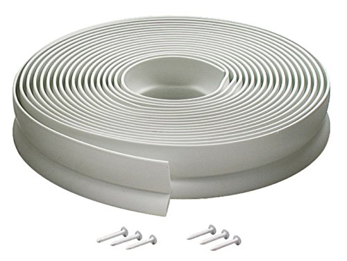 M-D Building Products Not Available 3822 Vinyl Garage Door Top and Sides Seal, 30 Feet, White