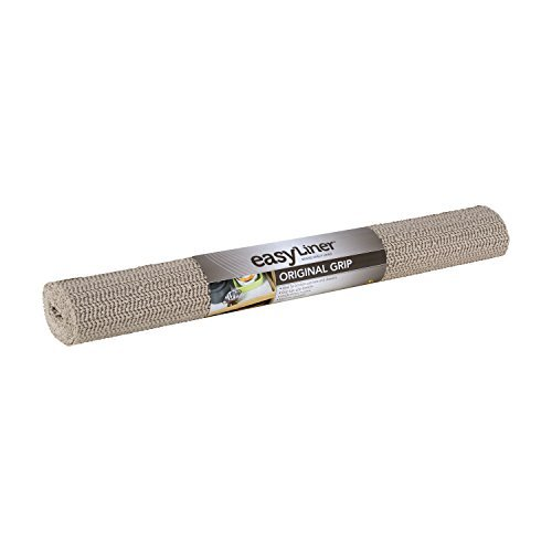 Duck Brand 393075 Original Grip Easy Liner Non-Adhesive Shelf Liner, 20-Inch x 7-Feet, Taupe