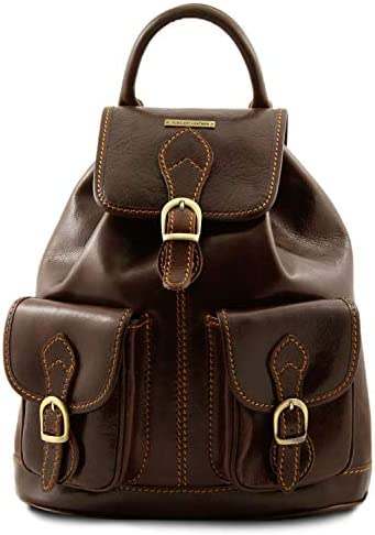 Tuscany Leather Tokyo Leather Backpack Dark Brown